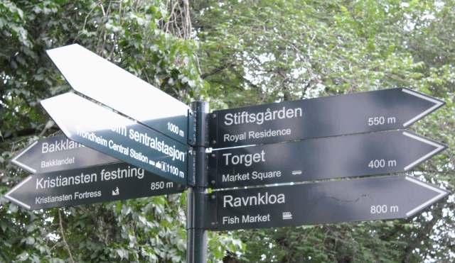 Trondheim strassenschild 640