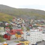 Honningsvag Norwegen Blick auf die Stadt