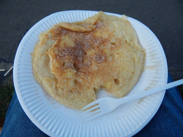 Apfelpfannkuchen in Laubach Blues, Schmus, Apfelmus