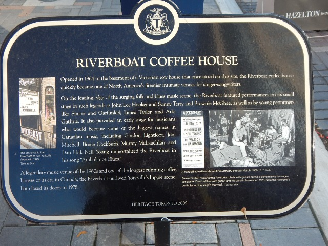 Toronto Yorkville Riverboot Coffee House