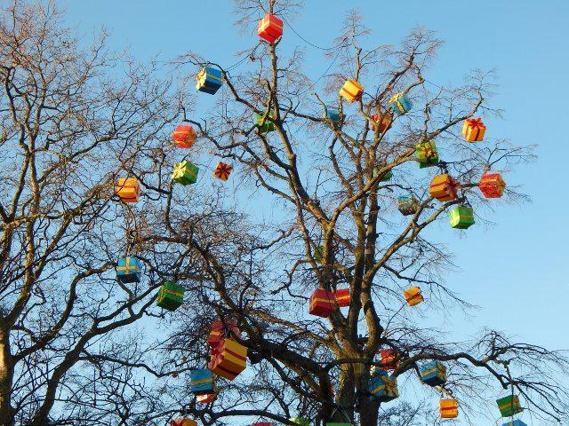Moderner Weihnachtsbaum