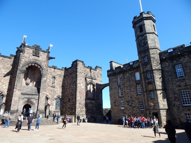 Edinburgh Castle Innenhof des Schlosses