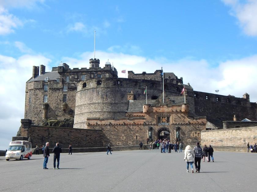 Edinburgh Castle, die Burg von außen