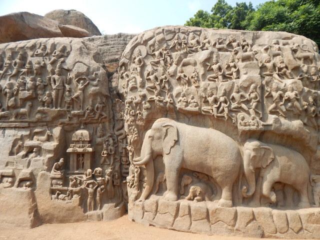 Felsenrelief von Mahabalipuram