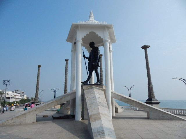 Pondicherry Gandhi Denkmal