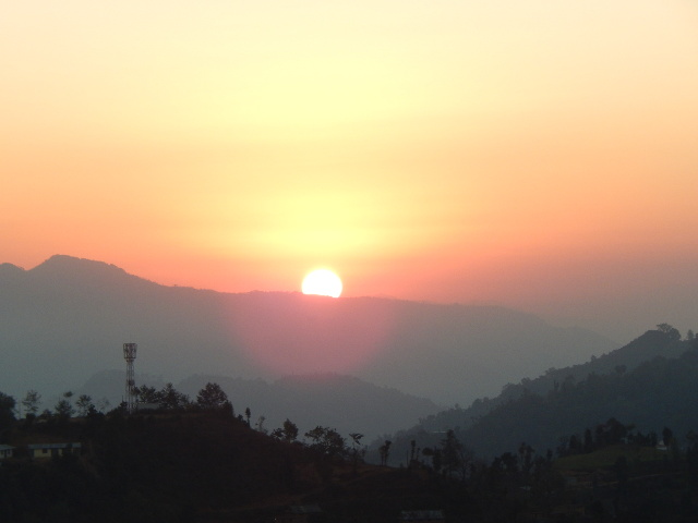 Sonnenaufgang am Kloster.
