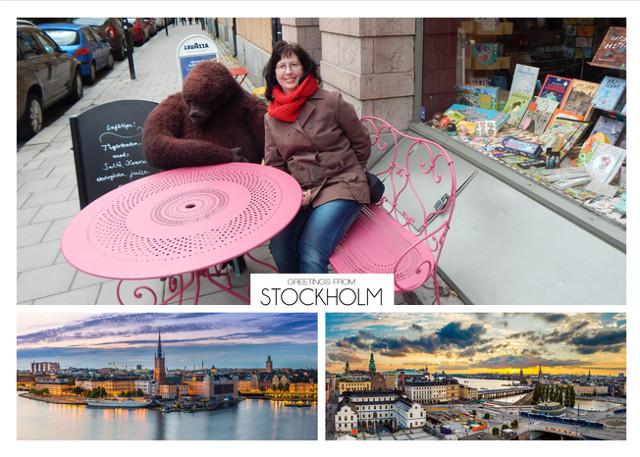 Indiduelle Postkarte mit Fotos