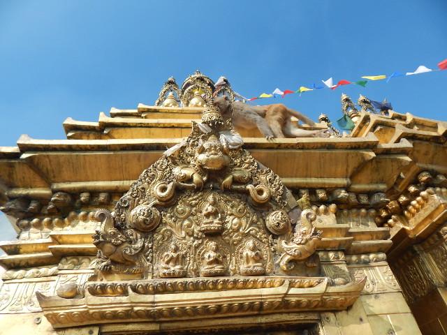 Der Schrein des Swayambhunath im Detail