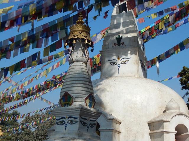 Der Affentempel Swayambhunath in Kathmandu auf unserer Nepal Rundreise.