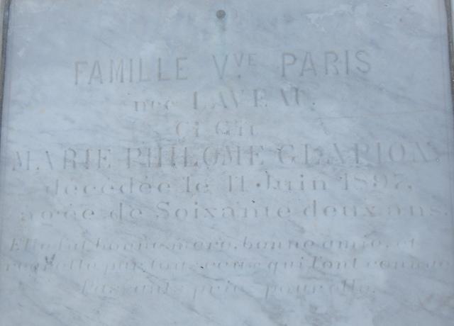 Grabstein der Marie Laveau
