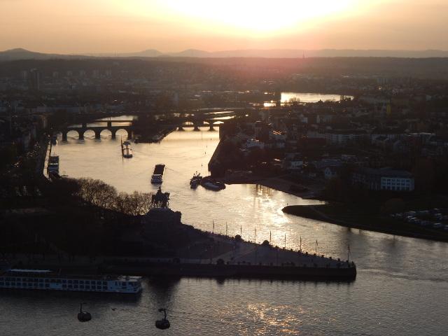 Sonnenuntergang über Koblenz