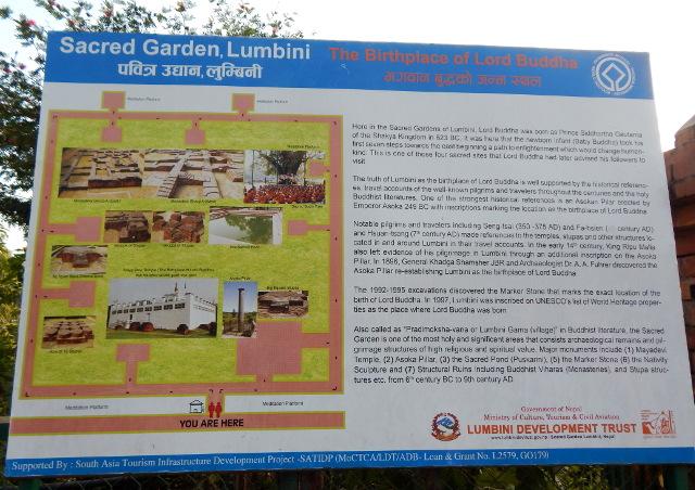 Sehenswürdigkeiten im Sacred Garden, Lumbini