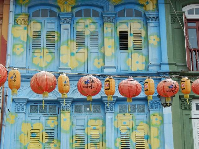 Historische Häuser in Chinatown, Singapur