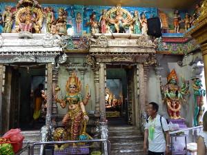 Das Tempelinnere Hindutrempel Little India Singapur