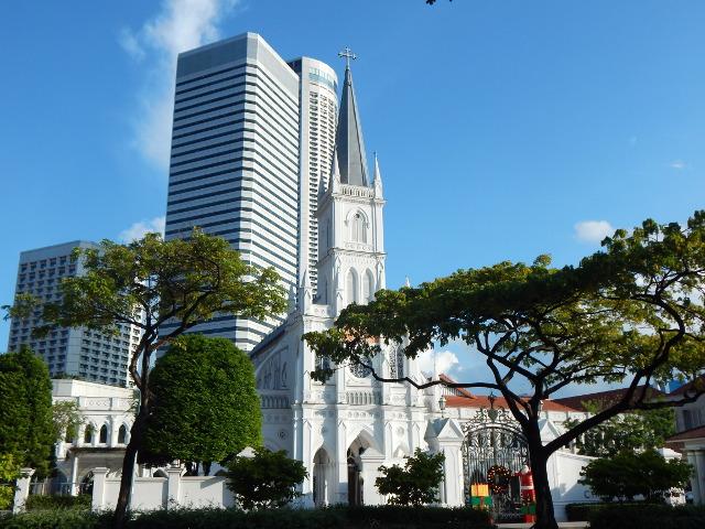 Das ehemalige Kloster Chijmes in Singapur.