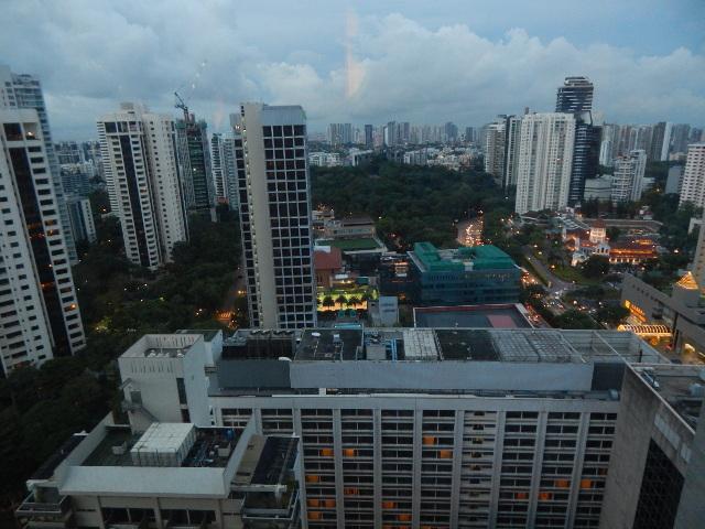 Blick auf Singapur am Abend