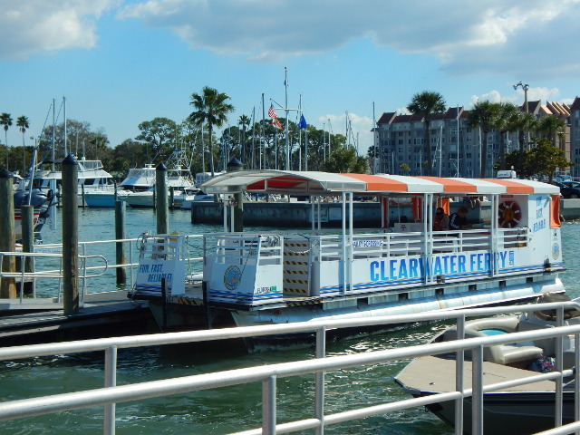 Anreise mit der Fähre von Clearwater nach Dunedin Florida.