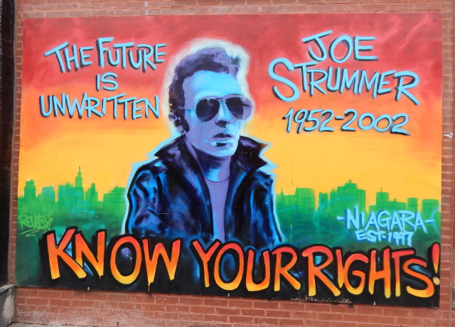 Joe Strummer Mural, Street art in New York.