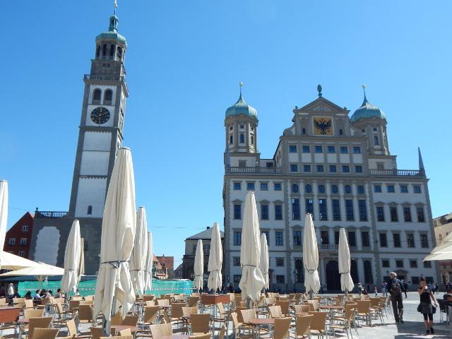 Perlachturm und Rathaus, Augsburg Sehenswürdigkeiten