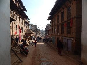 Straße in der Königsstadt Bhaktapur, Nepal