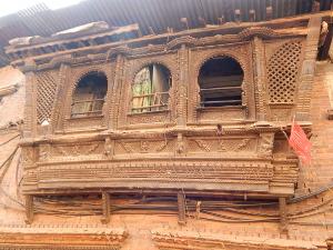 Nepalesiche Holzschnitzereien in Bhaktapur,Nepal