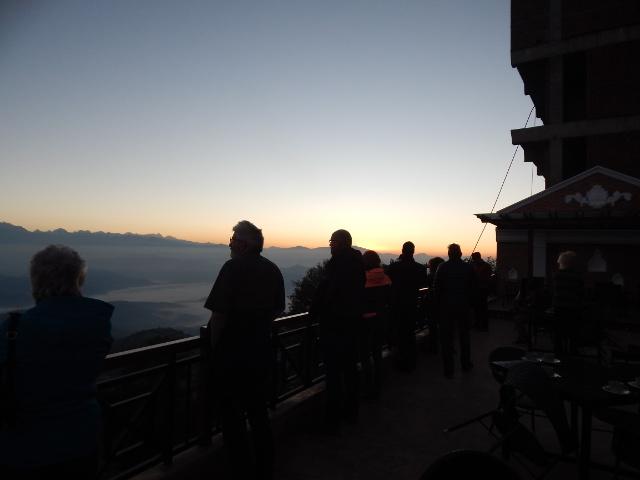 Sonnenaufgang über dem Himalaya, Nepal