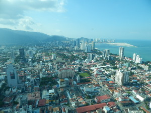 Blick auf George Town, Penang Malaysia Aussichtspunkte.
