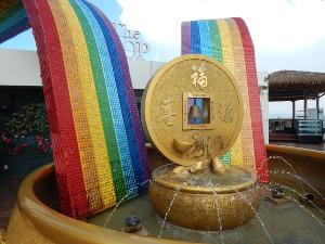 Der Wunschbrunnen auf dem Komtar in Penang.