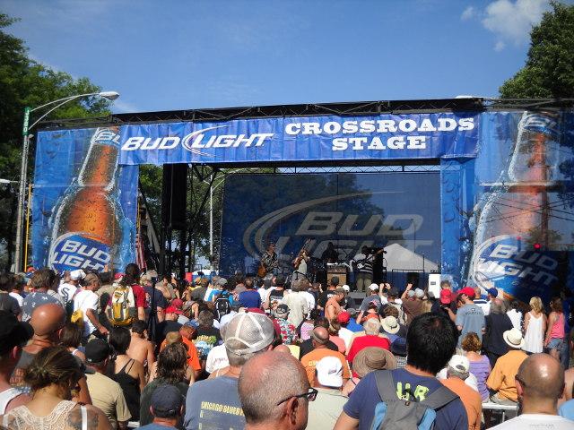 Die Crossroads Stage beim Chicago Blues Festial