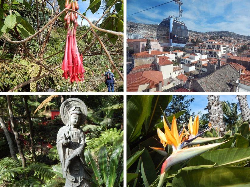Funchal Seilbahn, die Fahrt zum Monte und Besuch des tropischen Gartens -