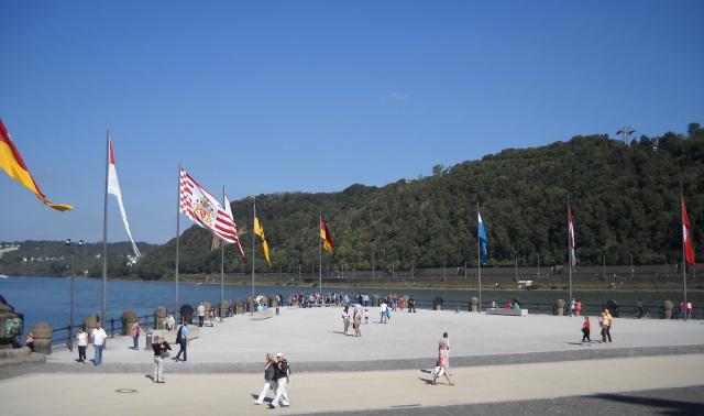 Das Deutsche Eck in Koblenz, Koblenz Sehenswürdigkeiten.
