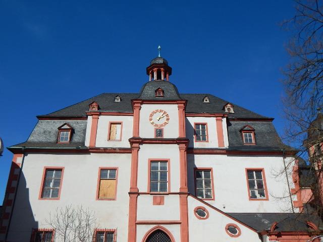 Das Alte Kaufhaus in Koblenz mit dem Augenroller, Koblenz Sehenswürdigkeiten.