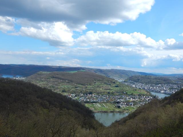 Der Vierseenblick in Boppard am Rhein.