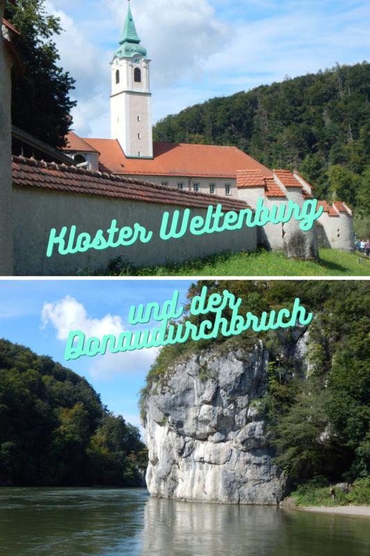 Kloster Weltenburg und der Donaudurchbruch bei Kelheim, Bayern.