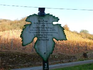 Informationsschilder zum Weinanbau