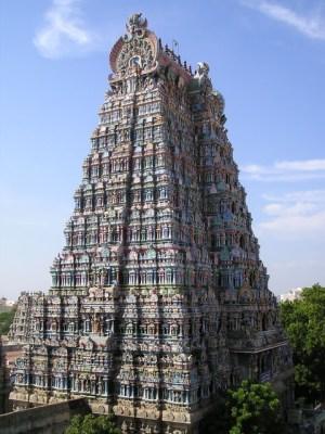 Gopuram des Minakshi Tempels