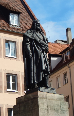 halber Tag in Nürnberg, das Albrecht-Dürer-Denkmal in Nürnberg