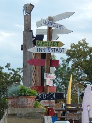 Wegweiser in die Welt, Stadtstrand Schweinfurt