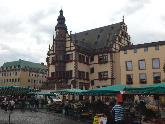 Rathaus auf dem Marktplatz in Schweinfurt