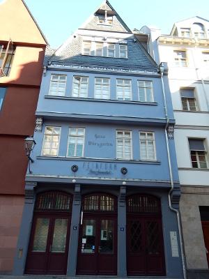 Haus Würzgarten, Markt, Frankfurt neue Altstadt, ist ein Schmuckladen.