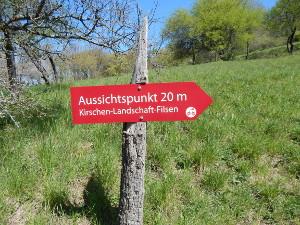 Abstecher zum Aussichtspunkt Kirschen Landschaft Filsen