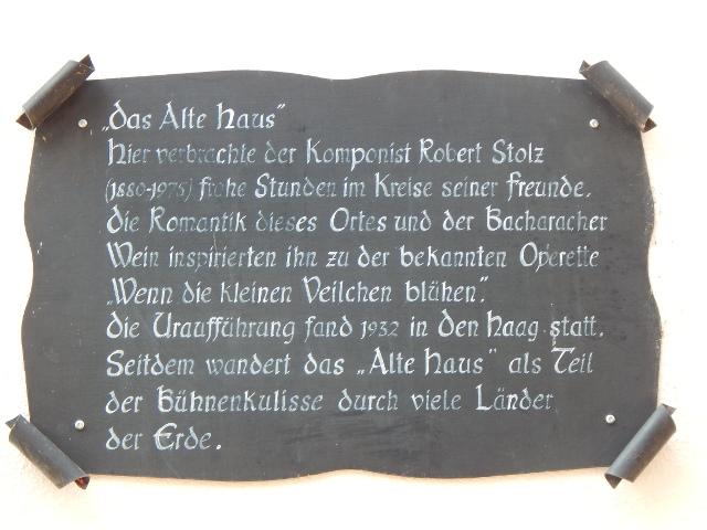 Das Alte Haus inspirierte den Komponisten Robert Stolz zu seiner Operette