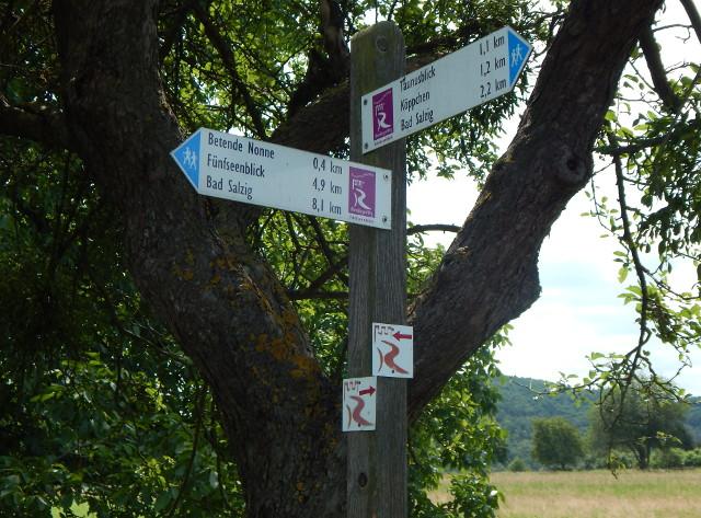 Wanderwege Schild bei Weiler