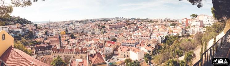 Ausblick Aussichtspunkt Lissabon Alfama