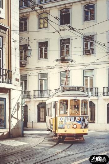 Straßenbahn Linie 28 Lissabon Portugal