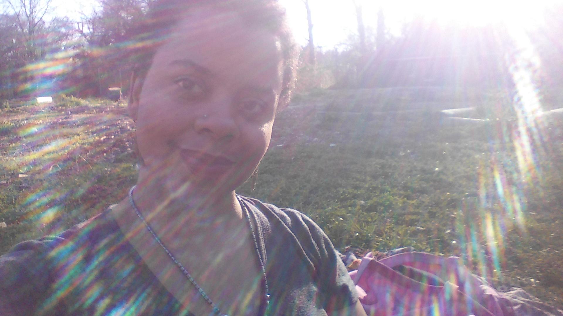 Me at the garden