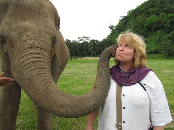 In Which I Get a Baby Elephant Kiss