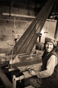 Chitkul woman at her loom. Chitkul, Himalayas.