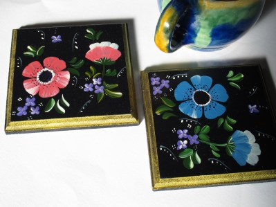 pair costers coasters (anemone)
