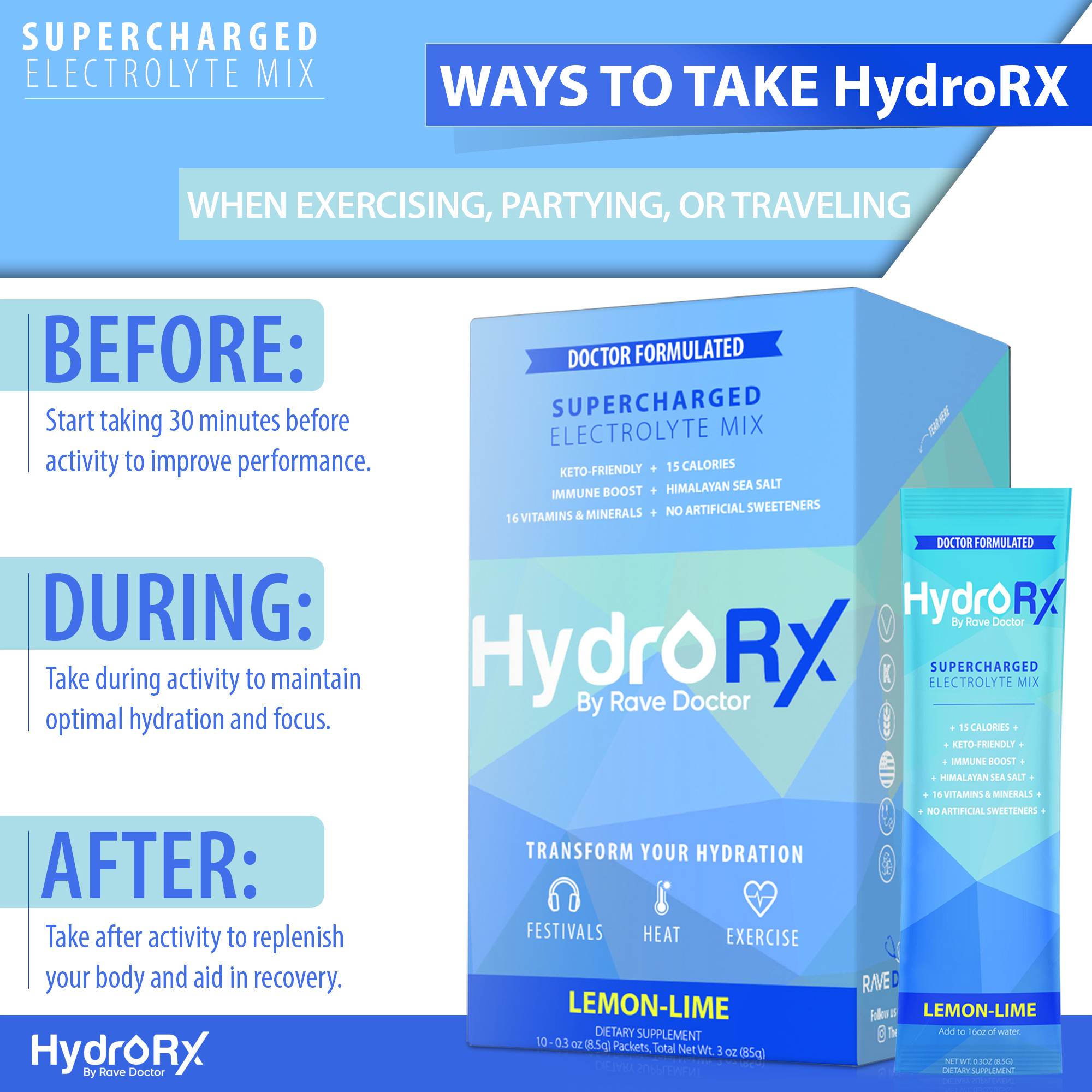 6 How to take HydroRX by Rave Doctor Keto Sports Drink